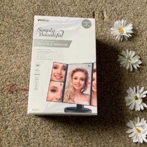 Tri Fold Makeup Mirror